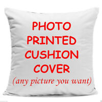 Personalised Cushion Cover Pillow Case Printed Photo Custom Made Print Cover Hot