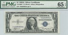 1935-A $1 SILVER CERTIFICATE ** STAR NOTE ** GORGEOUS GEM CRISP NEW PMG 65 EPQ