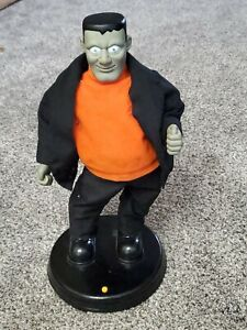 Gemmy Animated Frankenstein Dances Eyes Light Up Musical Monster Mash Halloween