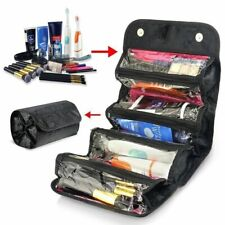 Roll Up Travel Toiletry Wash Bag Womens Mens Hanging Cosmetic Makeup Organizer