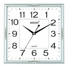 Large Square Non Ticking Sweeping Seconds Bold Quartz Wall Clock
