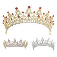 Women Lady Tiaras Headwear Wedding Bridal Bridesmaid Crystal Crown Head Ornament