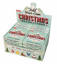 Make Your Own Origami Christmas Decorations Paper Folding Craft Kit Xmas