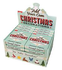 Crea la tua ORIGAMI DECORAZIONI NATALIZIE CARTA PIEGHEVOLE Craft Kit Natale