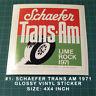 1971 SCHAEFER TRANS-AM LIME ROCK - SCCA - BOSS 302 MUSTANG JAVELIN DECAL STICKER