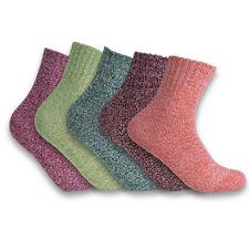 5 Pares Feminino Lã Cashmere meias grossas de inverno quente Casual Vintage Sock 6-9