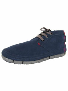 Crocs Mens Stretch Sole Desert Boot Shoes, Navy/Charcoal, US 10