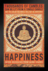 Thousands of Candles Buddha Happiness Quote Framed Poster