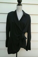 DESIGNER TERRY MUGLER WOMAN'S BLOUSE BLACK SIZE M GREAT CONDITION  FRANCE  (C)