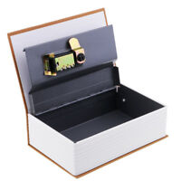 Secret Book Safe Portable Small Travel Box Hidden with Lock Book Safe Yellow