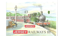 Jersey-Railways Min sheet Trains mnh