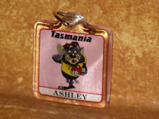 Ashley Tasmanian Taz Devil Keychain Keyring Pink Holder