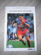 ANDREAS ZICKLER *2 FC BAYERN MUNICH AUTOGRAPHCARD - ORIGINAL SIGNED !!