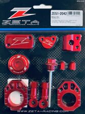 ZETA Racing Aluminium Billet Kit RED for Honda CRF450R & CRF450RX 2017-on