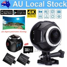 WIFI 4K 360 HD Waterproof Sports DV Camera Bike Action Helmet+Extra Battey+32GB
