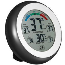 Multifunctional Digital Thermometer Hygrometer Temperature Humidity Touch Screen