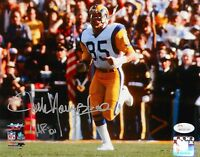 Jack Youngblood Autographed LA Rams 8x10 Running P. F. Photo W/ HOF- JSA W Auth