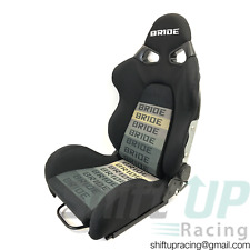 PAIR BRIDE CUGA Black Gradation fabric Low Max Reclinable Racing Seats w/SLIDERS