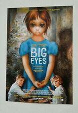 Big Eyes original vintage movie film poster Margaret Keane Tim Burton 1960s art