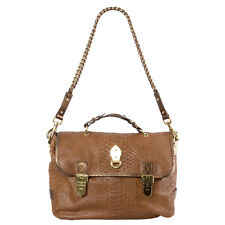 41315 auth MULBERRY cognac FAUX SNAKESKIN leather TILLIE Satchel Shoulder Bag