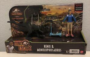 Jurassic World Camp Cretaceous Dino Escape Kenji & Monolophosaurus 2021 NEW