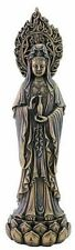 Kwan Yin Statue Avalokiteshvara on Lotus Compassion Goddess Holy Water #3125