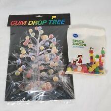 Gumdrop Tree Clear Plastic Candy Dish Tidbit Server Ornaments Jewelry NEW