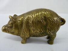 VINTAGE PIG BRASS METAL FIGURINE