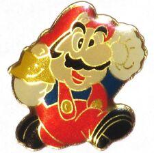 MARIO SUPER STAR OFFICIAL 1988 PIN BADGE NINTENDO CONSOLE VIDEO GAMES PROMO 0402
