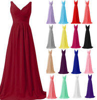 New Two-shoulder Formal Prom Ball Gown Wedding Bridesmaid Dress Stock Size 6-18