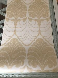 Alexander gold wallpaper art deco fan damask traditional floral price per roll