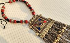 Wooden Bead Tribal Gypsy Pendant Necklace New listing