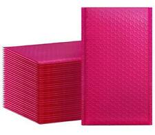 Hblife 50pcs Bubble Mailers 4x8 Inches Self Seal Hot Pink Poly Mailers Padded