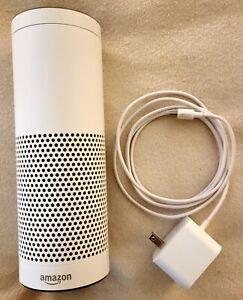 Amazon Echo EU-L-2338 - White - Excellent Condition with Power Adapter