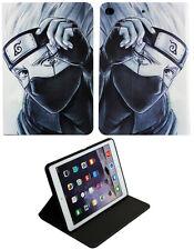 Fo iPad Pro 9.7/iPad 9.7/iPad 1-2 Naruto Anime Kakashi Talles Air Estuche Cubierta