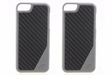Pair (2) of Element Case Flight 5 for iPhone 5/5S - Grey with Matte Carbon Fiber