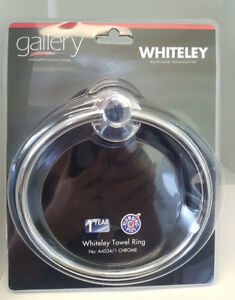 NEW Gallery Tapware NOVELLI WHITELEY Hand Towel Ring Bathroom Accessories Chrome