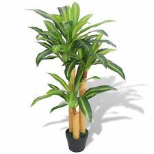 "vidaXl Artificial Dracaena Plant w/ Pot 39.4"" Green Home Room Leaves Decor"