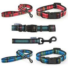 Ancol Tartan Adjustable Dog Collar or Lead Blue / Red /Purple Small Medium Large