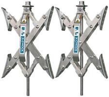 Trailer Camper RV 2 X-Chock Wheel Stabilizer 1 Ratchet Handle Tire Locking Chock