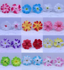 "50X Hawaiian Plumeria Frangipani 3"" Artificial Silk Flower Heads Wedding Bridal"