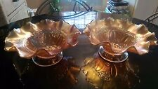 Pair of Early Patterned Carnival Glass Bowls