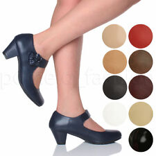 Mary Janes Synthetic Leather Cuban Heel Shoes for Women