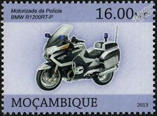 2011 BMW R1200RT-P Police Motorcycle Motorbike Stamp (2013 Mozambique)
