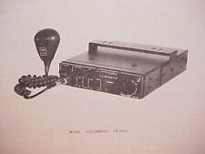 1978 SUPERSCOPE CB RADIO SERVICE SHOP MANUAL MODEL AIRCOMMAND CB-640