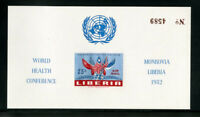 Liberia #C70A Imperforate Inverted Stamp Souvenir Sheet