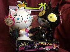 Hi Hi Puffy AmiYumi Doddle Cats Figure Set  JANG KENG & TEKIRAI 2005 RARE