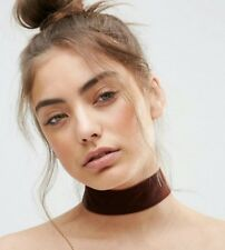Choker necklace - ASOS - Brown Velvet - Fashion Jewelry - Cute/Stylish