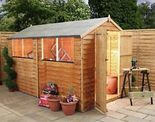 Mercia Wooden Overlap Side Hinged Door Apex Shed - 10x6ft