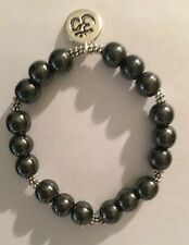 Obsidian Stone  Bracelet Unique Design for Protection & Healing w/OM Pendant